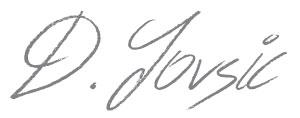 Dr Duško Jovšić potpis